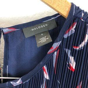 Halogen Tops - NWT Halogen pleated sleeveless blouse